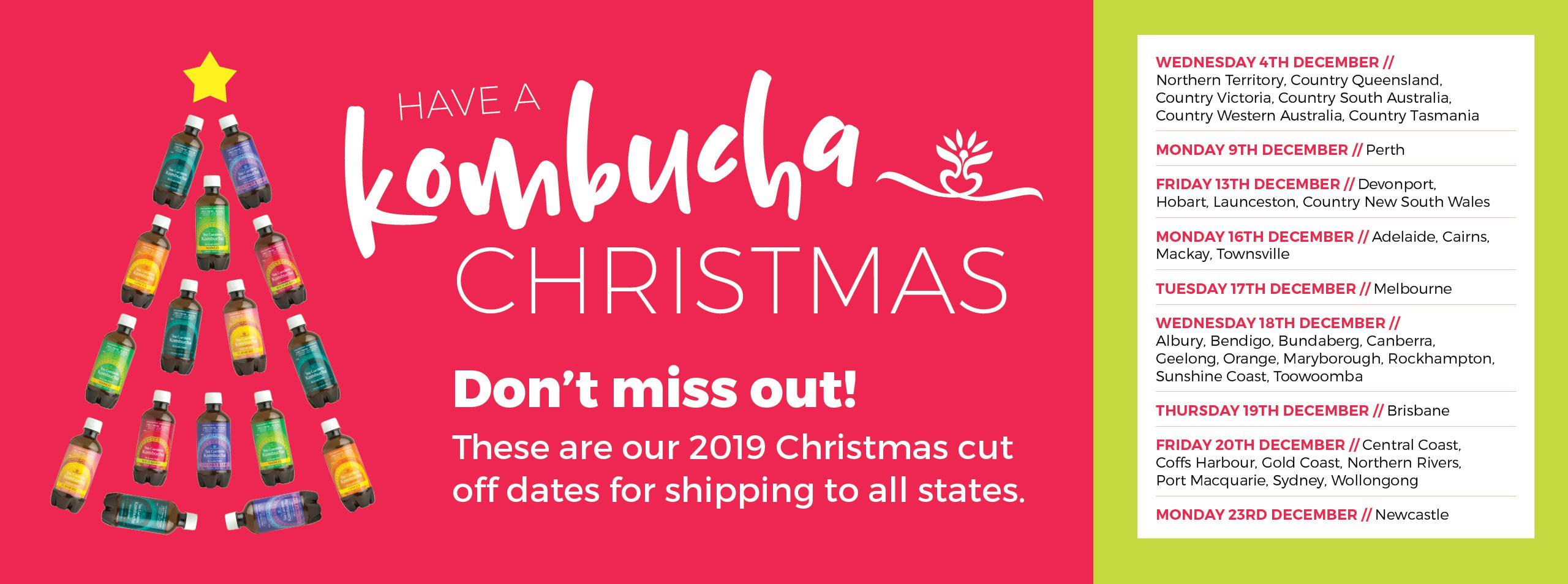 Tea Gardens Kombucha Christmas Shipping Details